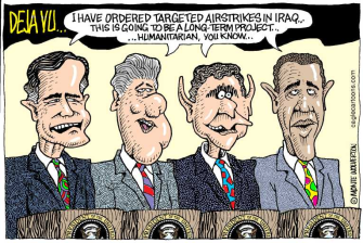 bombing iraq 4 presidents